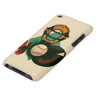 Vintage Sports, Baseball Player, the Catcher Barely There iPod Case