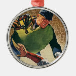 Vintage Sports, Baseball Player Umpire Christmas Tree Ornament