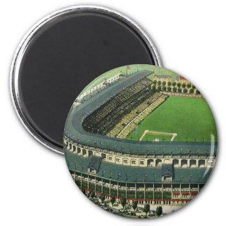 Vintage Sports Baseball Stadium, Aerial View 6 Cm Round Magnet