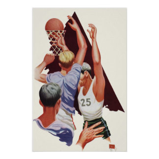 Vintage Sports, Basketball Players Posters