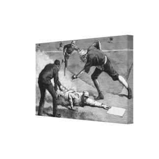 Vintage Sports, Black and White Antique Baseball Canvas Prints