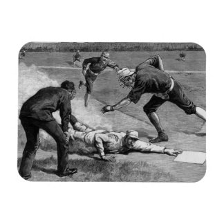 Vintage Sports, Black and White Antique Baseball Magnets