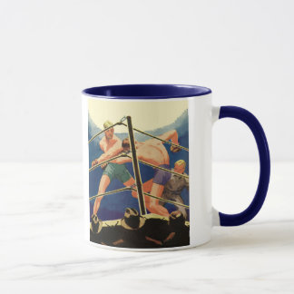Vintage Sports, Boxers in a Boxing Match Mug
