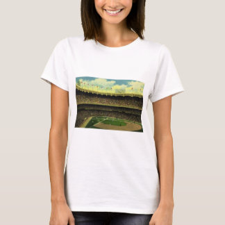 Vintage Sports, Flags and Fans in Baseball Stadium T-Shirt