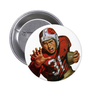 Vintage Sports Football Player Running Back No. 31 6 Cm Round Badge