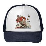 Vintage Sports, Football Player Running Mesh Hats