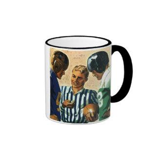 Vintage Sports, Football Ref Coin Toss Coffee Mug