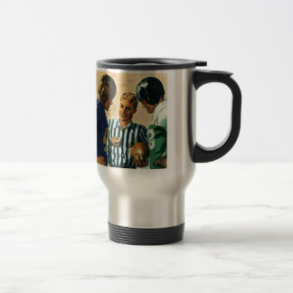 Vintage Sports, Football Ref Coin Toss Coffee Mugs
