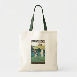 Vintage Sports Golf in Scotland, Golfers Golfing Budget Tote Bag