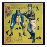 Vintage Sports, Home Baseball Game Custom Invitations