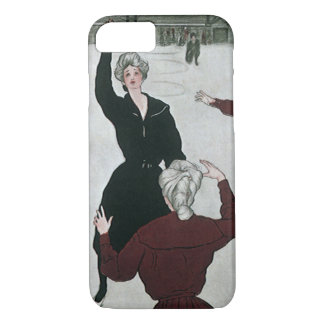 Vintage Sports, Women's Basketball Players in Game iPhone 8/7 Case