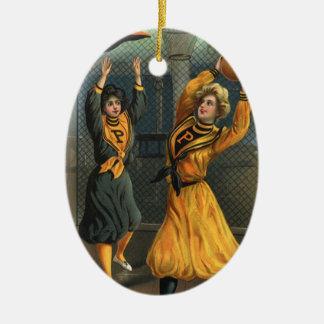 Vintage Sports, Women's Basketball Teams Christmas Tree Ornament