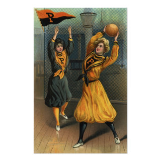 Vintage Sports, Women's Basketball Teams Poster