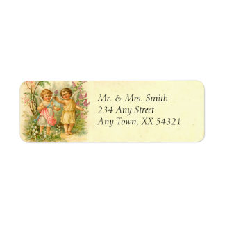 Vintage Spring Cherubs Return Address Label