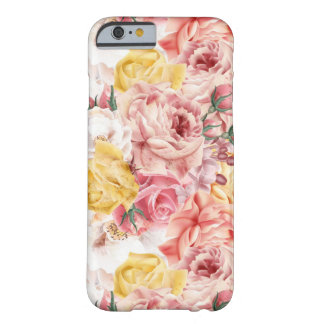 Vintage spring floral bouquet grunge pattern barely there iPhone 6 case