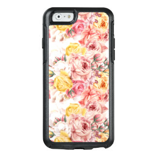 Vintage spring floral bouquet grunge pattern OtterBox iPhone 6/6s case