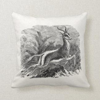 Vintage Springbok Antelope Gazelle Personalized Cushion