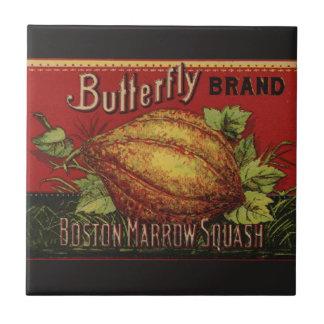 Vintage Squash Label Antique Vegetable Advertising Ceramic Tile
