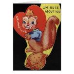 Vintage Squirrel Valentine's Day Card