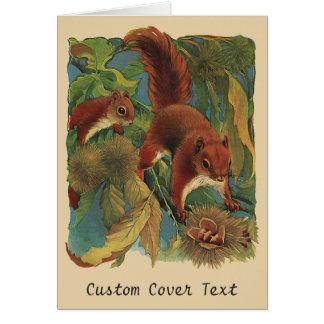 Vintage Squirrels, Forest Creatures, Wild Animals Card