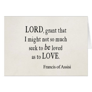 Vintage St. Francis of Assisi God Lord Love Quote Card