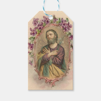 Vintage St. Joseph Feast Day March 19 Gift Tags