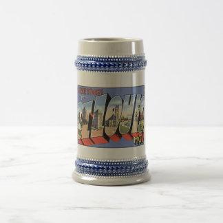 Vintage St. Louis, MO Postcard Mugs, Steins