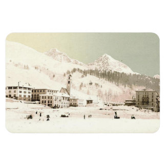 Vintage St-Moritz, Switzerland - Magnet