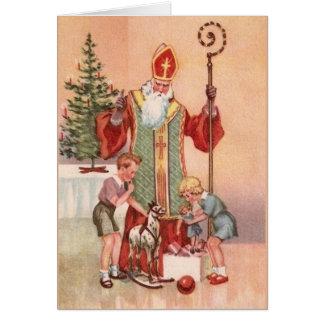 Vintage St. Nicholas Greeting Card