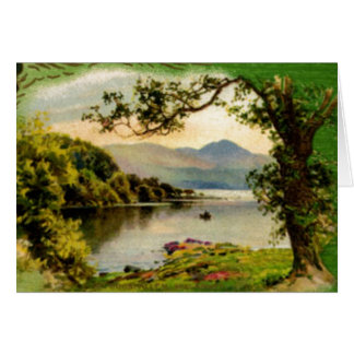 Vintage St. Paddy's By the Lake Card Greeting Card