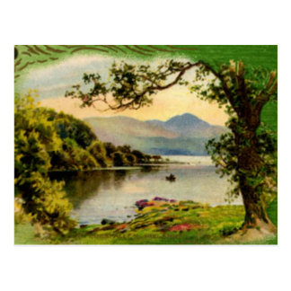 Vintage St. Paddy's By the Lake Postcard