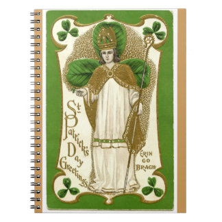 Vintage St Patrick Day's greetings Erin Go Bragh Notebook