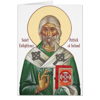 Vintage St. Patrick Icon Greeting Card