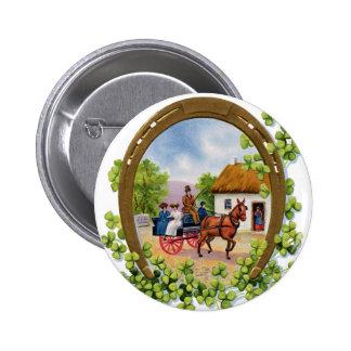 Vintage St Patrick s Day Button