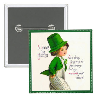 Vintage St Patrick s Day Greeting Pins