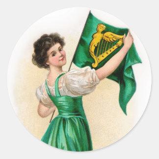 Vintage St Patrick s Day Sticker