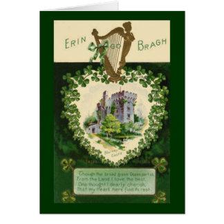 Vintage St. Patrick's Blarney Castle Greeting Card