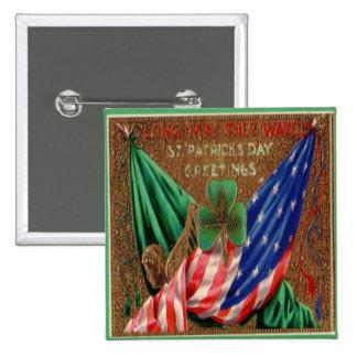 Vintage St Patricks Day 12 15 Cm Square Badge