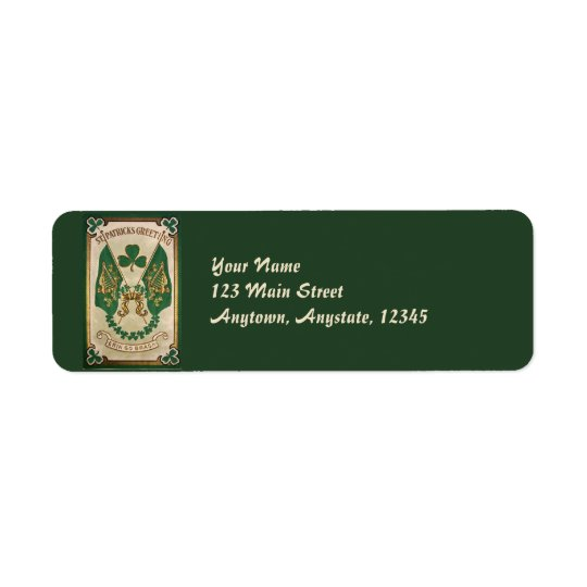 Vintage St. Patricks Day Address Labels