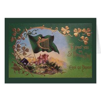 Vintage St. Patrick's Day Blarney Castle Greeting Card