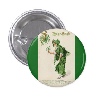Vintage St Patricks Day button badge