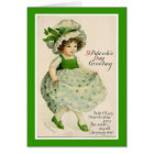 Vintage St. Patrick's Day Dancer Greeting Card