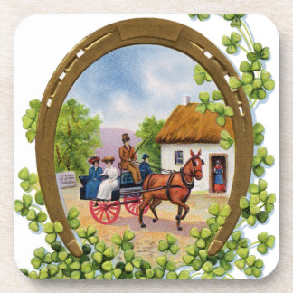 Vintage St. Patrick's Day Drink Coasters