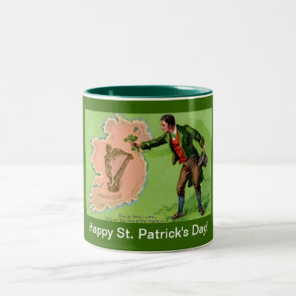 Vintage St. Patrick's Day Erin's Isle Coffee Mugs