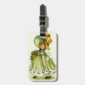 Vintage St. Patrick's Day Girl Bag Tags