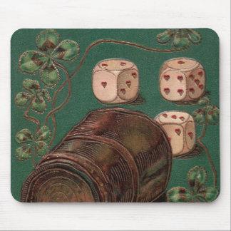 Vintage St. Patrick's Day Irish Good Luck Dice Mouse Pad