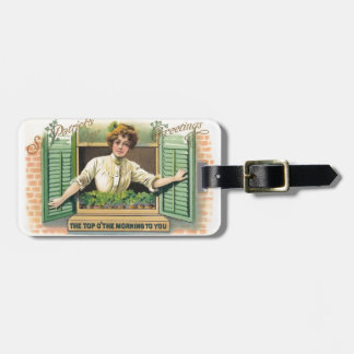 Vintage St. Patrick's Day Luggage Tag