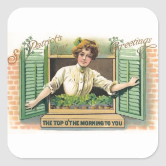 Vintage St. Patrick's Day Square Stickers