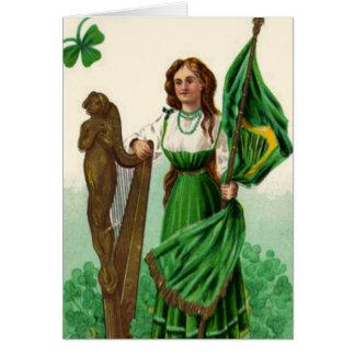 Vintage St. Patrick's Emblens of Erin Greeting Card
