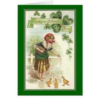Vintage St. Patrick's Morn Greeting Card